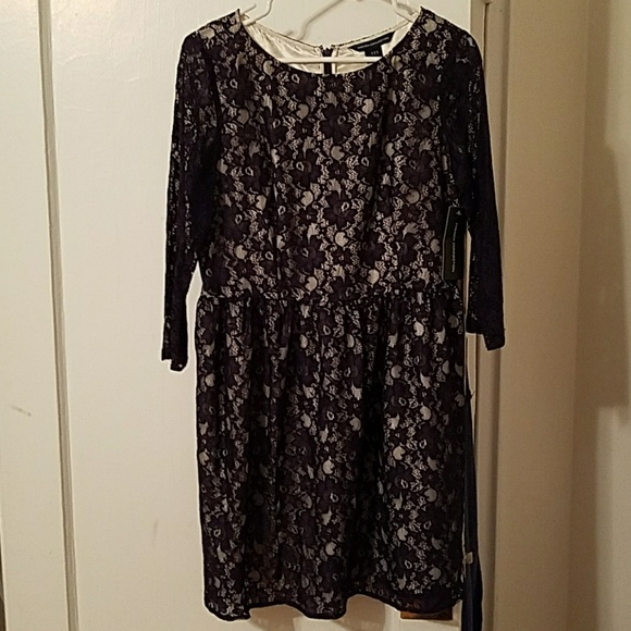 ee91686a2b8fa1 French Connection Purple Lace Dress